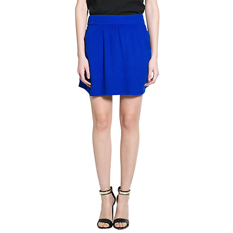 Buy Mango Short Flowy Skirt, Medium Blue Online at johnlewis.com