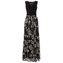 Buy Phase Eight Textured Lace Maxi Dress, Black/Stone Online at johnlewis.com