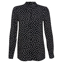 Buy Miss Selfridge Assorted Spot Print Shirt, Black/White Online at johnlewis.com