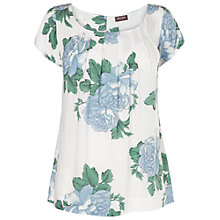 Buy Phase Eight Sandy Floral Blouse, Ivory/Cornflower Online at johnlewis.com