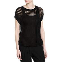 Buy Mango Openwork Knitted Top Online at johnlewis.com