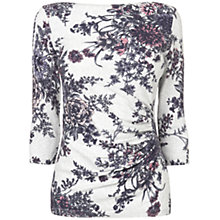 Buy Phase Eight Chrysanthemum Knit Top, Silver Online at johnlewis.com
