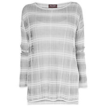 Buy Phase Eight Carmel Check Jumper, Grey/Ivory Online at johnlewis.com