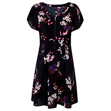 Buy Warehouse Floral Print Dress, Black Multi Online at johnlewis.com