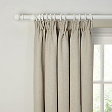 Buy John Lewis Lindava Fleece Backed, Lined Pencil Pleat Curtains, Natural Online at johnlewis.com