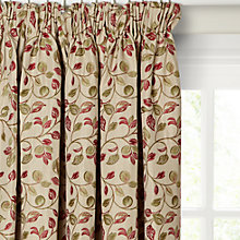 Buy John Lewis Sherwood Lined Pencil Pleat Curtains, Red / Green Online at johnlewis.com