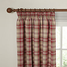 Buy John Lewis Aberdeen Check Lined Pencil Pleat Curtains, Multi Online at johnlewis.com