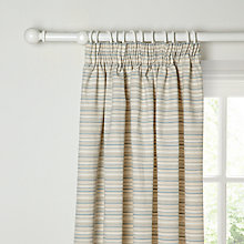 Buy John Lewis Canterbury Stripe Lined Pencil Pleat Curtains, Duck Egg Online at johnlewis.com