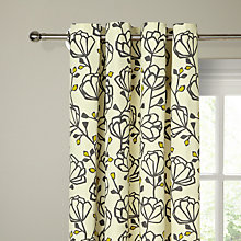 Buy John Lewis Heidi Lined Eyelet Curtains, Steel / Sulphur Online at johnlewis.com