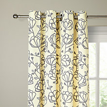 Buy John Lewis Heidi Lined Eyelet Curtains, Mineral / Natural Online at johnlewis.com
