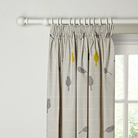 Buy John Lewis Bird On A Wire Lined Pencil Pleat Curtains