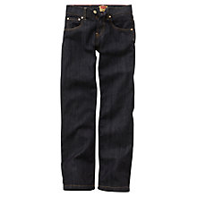 Buy Levi's Boys' 504 Regular Fit Denim Jeans, Indigo Online at johnlewis.com