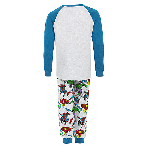 Buy Marvel Heroes Pyjama Set, Grey/Blue Online at johnlewis.com