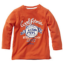 Buy Levi's Boys' Long Sleeve Logo T-Shirt, Orange Online at johnlewis.com
