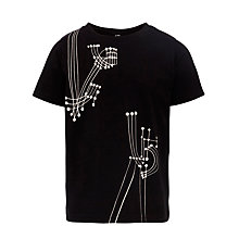 Buy Kin by John Lewis Music Note T-Shirt, Black Online at johnlewis.com