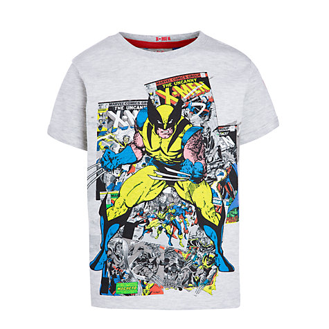 Buy Wolverine Comic T-Shirt, Grey Online at johnlewis.com