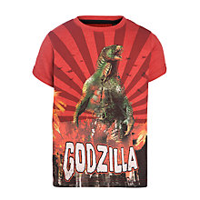 Buy Godzilla T-Shirt, Red Online at johnlewis.com