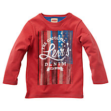 Buy Levi's Boys' USA Flag Print T-Shirt, Red Online at johnlewis.com