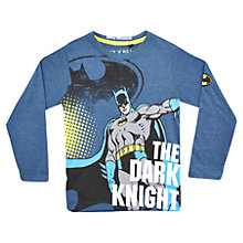 Buy Batman Long Sleeve T-Shirt, Denim Marl Online at johnlewis.com