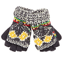 Buy John Lewis Fair Isle Mitten Gloves, Grey/Multi Online at johnlewis.com