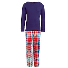Buy John Lewis Boys' Check Pyjamas, Blue/Red Online at johnlewis.com