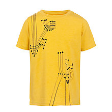 Buy John Lewis Boy Music Note T-Shirt, Yellow Online at johnlewis.com
