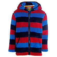 Buy John Lewis Boy Stripe Zip-Through Fleece, Blue/Red Online at johnlewis.com