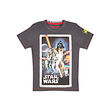 Buy Fabric Flavours Star Wars T-Shirt, Grey Online at johnlewis.com