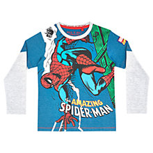 Buy Spider-Man Mock Long Sleeve T-Shirt, Blue Online at johnlewis.com