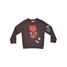 Buy Spider-Man Childrens' Sweatshirt, Dark Brown Online at johnlewis.com