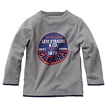 Buy Levi's Boys' Ladji Long Sleeve T-Shirt, Grey Marl Online at johnlewis.com