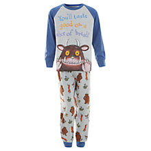 Buy John Lewis Boy Gruffalo Jersey Pyjama Set, Grey Online at johnlewis.com