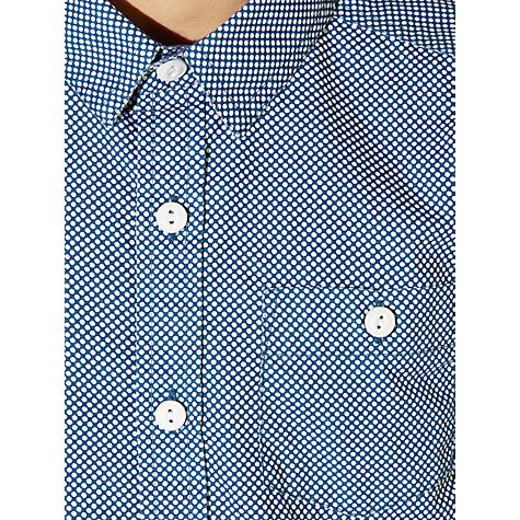 Buy John Lewis Boy Small Spot Shirt, Blue/White Online at johnlewis.com