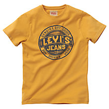 Buy Levi's Logo Print T-Shirt, Mustard Online at johnlewis.com