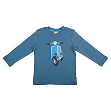 Buy Frugi Vesper Applique Top, Dark Teal Online at johnlewis.com