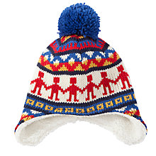 Buy John Lewis Folk Fair Isle Knit Trapper Hat, Multi Online at johnlewis.com