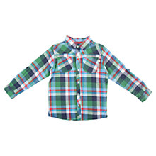Buy Frugi Boys' Monty Check Shirt, Green/Multi Online at johnlewis.com