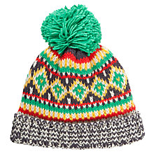 Buy John Lewis Children's Fair Isle Beanie Hat, Multi Online at johnlewis.com