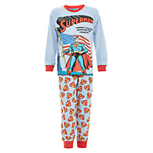 Buy Superman Flag Pyjama Set, Light Blue Online at johnlewis.com