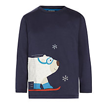 Buy Frugi Boys' Polar Bear Long Sleeve Top, Navy Online at johnlewis.com