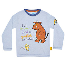 Buy Gruffalo 'My Favourite Food is' T-Shirt, Pale Blue Online at johnlewis.com
