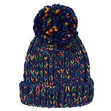 Buy John Lewis Space Dye Beanie Hat, Navy/Multi Online at johnlewis.com