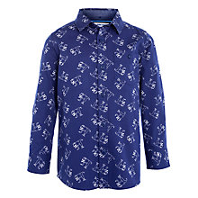 Buy John Lewis Boy Dinosaur Print Shirt, Blue Online at johnlewis.com