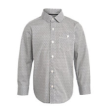 Buy John Lewis Heirloom Collection Boys' Geo Print Shirt, Black/White Online at johnlewis.com