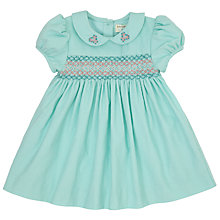 Buy John Lewis Baby Corduroy Dress, Eggshell Online at johnlewis.com
