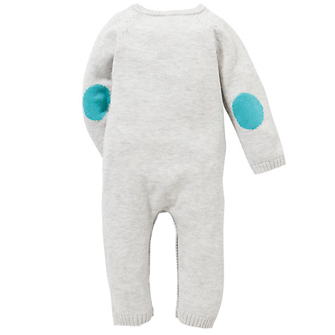 Buy John Lewis Baby Puppy Knit Romper, Grey Online at johnlewis.com