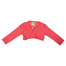 Buy Frugi Girls' Pointelle Cardigan, Coral Online at johnlewis.com