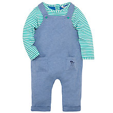 Buy John Lewis Baby Boy's Dungaree Set, Blue/Green Online at johnlewis.com
