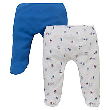 Buy John Lewis Baby's Puppy Leggings, Pack of 2, Blue/White Online at johnlewis.com