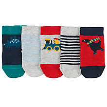 Buy John Lewis Dinosaur Socks, Pack of 5, Multi Online at johnlewis.com